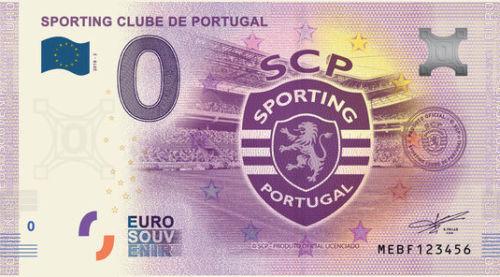 nota de zero euros Sporting Clube de Portugal 2018